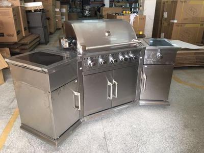 kitchen aid gas grills outdoor miami 美国别墅庭院家用户外厨房全不锈钢燃气烧烤架bbq烧烤台烤肉架 虎窝淘