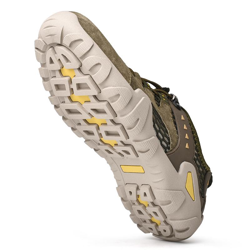 新款男鞋夏季運動洞洞鞋網面透氣包頭涼鞋縷空休閑鞋戶外沙灘鞋子 - 折236網