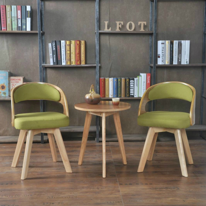 bedroom chair with table portable baby buy three sets of solid wood tables and chairs free shipping balcony living room patio combination coffee lounge rotating