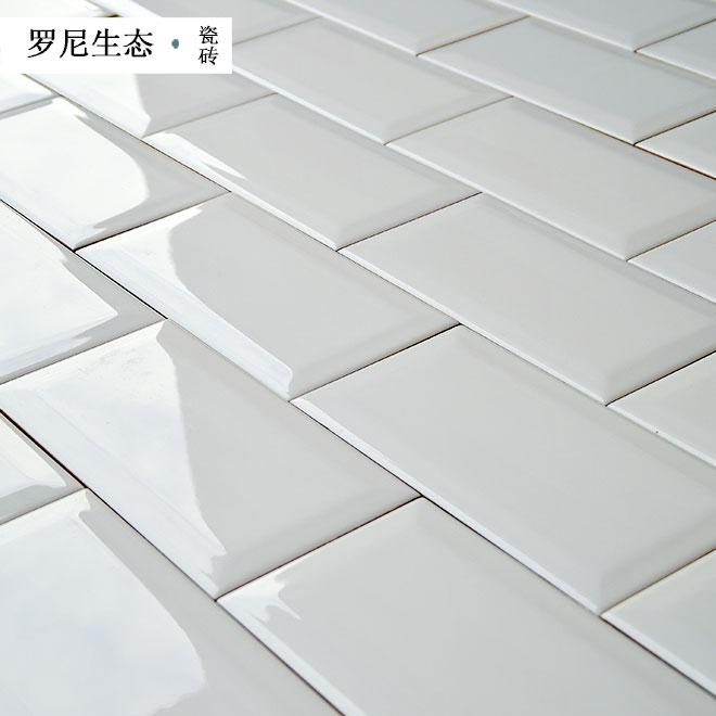 subway tile for kitchen miniature utensils 北欧风小面包砖厨房地铁砖釉面砖亮光黑白瓷片卫生间瓷砖