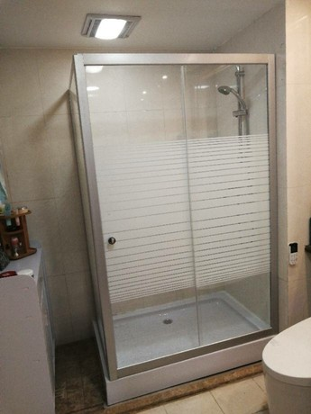 Rectangular Shower Room Simple Bathroom Tempered Frosted Glass Partition 120 90 Bathroom Bath Room Household