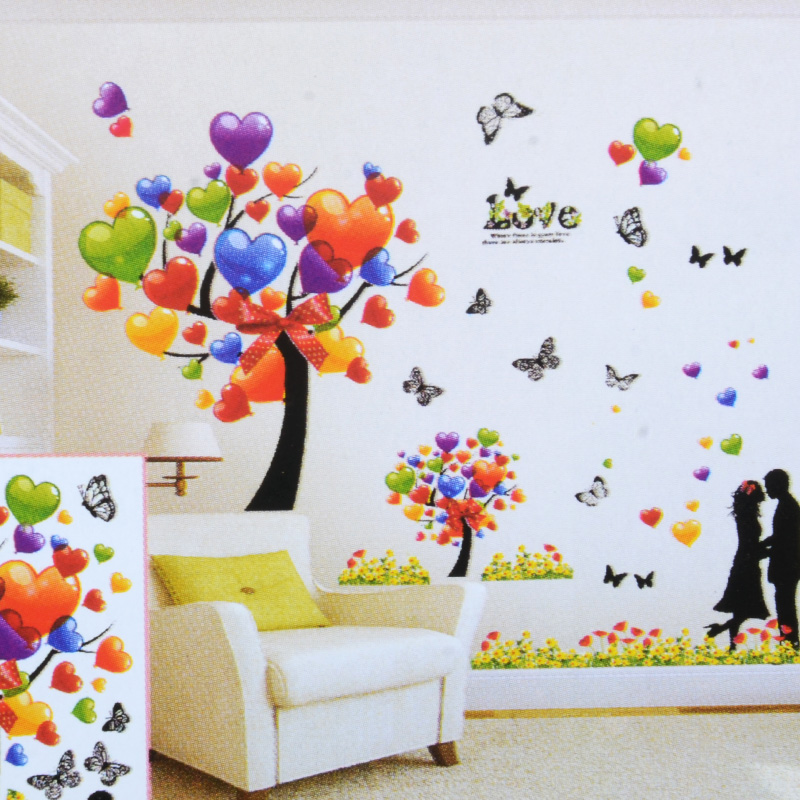 wall stickers living room interior decorating ideas large rooms buy free shipping 3d stereoscopic bedroom background scenery diy sticker decal
