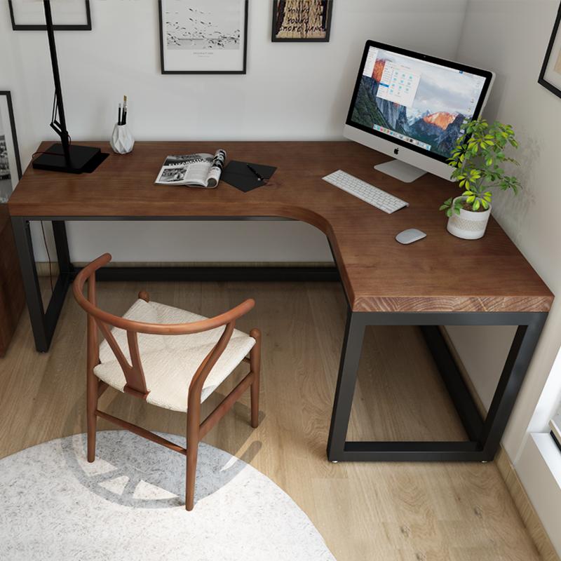 ins北歐實木轉角書桌家用 L型臥室電腦桌簡約臥室牆角桌子辦公桌 - 淘寶天貓 - LINE購物
