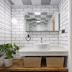 Beveled Subway Tile Kitchen Center Island 北欧风格小白砖100x300 厨房卫生间瓷砖长条白色平面斜面地铁砖 斜面地铁砖厨房