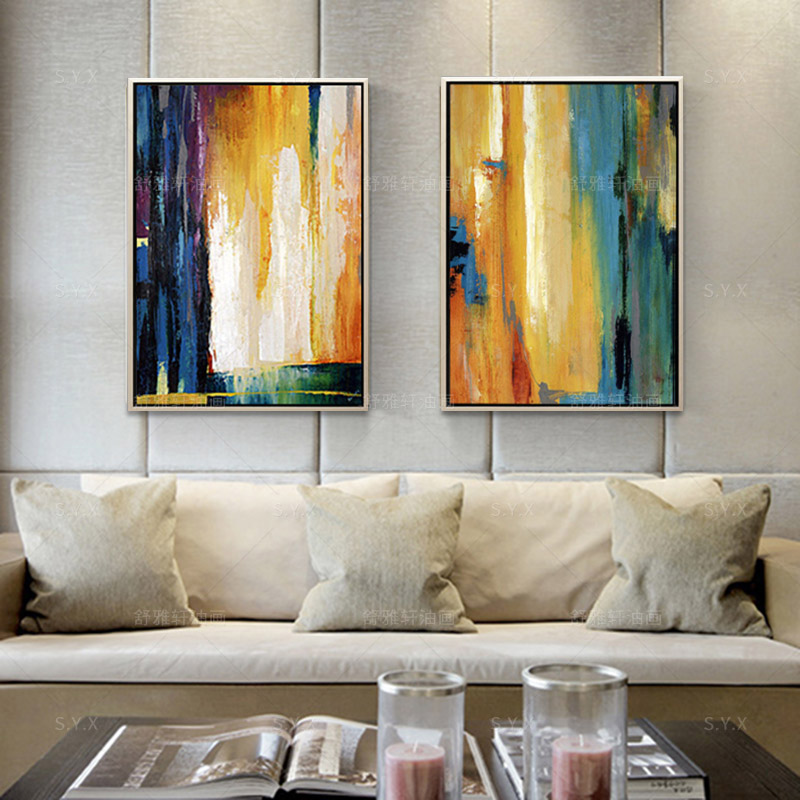 paintings for living room home decorating ideas rectangular rooms buy handmade oil painting decorative modern abstract the bedroom entrance american creative wall