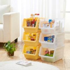 Kitchen Storage Racks Oak Tables Buy Stackable Basket Plastic Fruit And Vegetable Shelf Of
