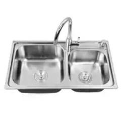 Porcelain Kitchen Sink Pantry Shelving 水槽单品新品 水槽单品价格 水槽单品包邮 品牌 淘宝海外 Teci特瓷卫浴高级304不锈钢水槽双槽加厚厨房洗菜盆
