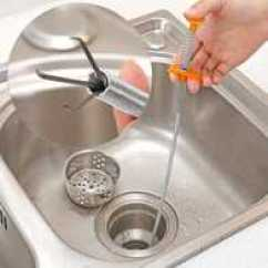 Unclog Kitchen Drain Titanium Knives 通厨房排水管工具 通厨房排水管神器 通厨房排水管怎么用 Diy 淘宝海外 排水管道清洁器厨房疏通下水道工具浴室卫生间地漏毛发清理神器