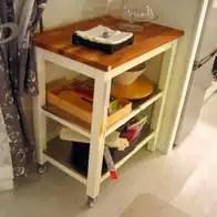 oak kitchen cart compact sink 厨房推车木加盟 厨房推车木价格 厨房推车木改装 价钱 淘宝海外 宜家国内代购斯坦托厨房推车白色橡木实木餐车推车收纳架
