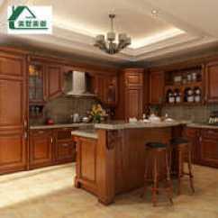 Cheap Kitchen Islands Wooden Cabinets 厨房岛台设计 厨房岛台价格 厨房岛台价钱 颜色 淘宝海外 整体橱柜定制水曲柳实木厨柜定做欧式开放式厨房橱柜带