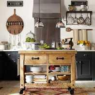 moveable kitchen island farm sinks for kitchens 移动中岛厨房设计 移动中岛厨房尺寸 移动中岛厨房收纳 颜色 淘宝海外 定制实木餐边柜美式中岛台厨房储藏柜餐厅收纳茶水碗