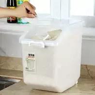 rubbermaid kitchen storage containers sink flange 储存桶塑料新品 储存桶塑料价格 储存桶塑料包邮 品牌 淘宝海外 方型带盖50米筒塑料家用饭店装米桶储米箱