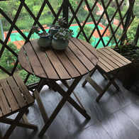 1950s kitchen table grohe faucet 双人小餐桌尺寸 双人小餐桌高度 双人小餐桌价格 推荐 淘宝海外 复古实木折叠桌椅小户型双人餐桌庭院休闲小桌子小圆桌阳台