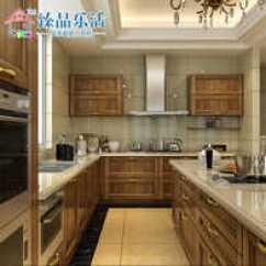 Walnut Cabinets Kitchen Tiled Countertops 胡桃木橱柜设计 胡桃木橱柜布置 胡桃木橱柜图片 颜色 淘宝海外 胡桃木橱柜无锡臻品乐活橱柜定做整体厨柜定制实木厨房