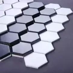 Mosaic Kitchen Tile Home Depot Cabinets Sale 陶瓷马赛克瓷砖设计 陶瓷马赛克瓷砖diy 陶瓷马赛克瓷砖价钱 价格 淘宝海外 北欧风陶瓷黑白色小六角马赛克厨房卫生间阳台墙面地面六边