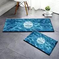 navy blue kitchen rugs shutters 蓝色地毯门垫颜色 蓝色地毯门垫设计 蓝色地毯门垫推荐 价格 淘宝海外 蓝色海洋地中海门垫卧室长条地毯浴室吸水防滑地垫卫生间