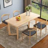 tall table and chairs for kitchen cost to paint cabinets 桌子椅子一套新品 桌子椅子一套价格 桌子椅子一套包邮 品牌 淘宝海外 北欧客厅纯实木餐桌松木碳化桌椅一套餐厅饭店多人用