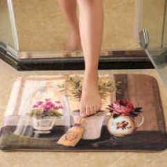 Memory Foam Kitchen Rug Chair Pads Pottery Barn 创意浴室地毯颜色 创意浴室地毯设计 创意浴室地毯推荐 价格 淘宝海外 智慧夫人创意地垫浴室吸水卫生间门垫记忆海绵卧室防滑地毯地
