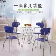 tall table and chairs for kitchen cabinet organizers pots pans 个性户外桌椅尺寸 个性户外桌椅高度 个性户外桌椅设计 推荐 淘宝海外 耐磨凳子小圆桌防滑蓝色个性多人饭桌组合餐桌椅