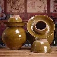 kitchen pottery canisters wall tiles 瓦罐坛子批发 瓦罐坛子diy 瓦罐坛子做法 食谱 淘宝海外 新款陶罐瓦罐酵素腌制超大泡菜坛子家用口缸密封腌