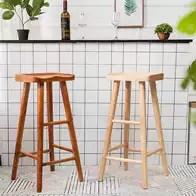 kitchen bar stool nutone exhaust fans wall mount 厨房吧台椅尺寸 厨房吧台椅高度 厨房吧台椅设计 推荐 淘宝海外 北欧休闲酒吧高脚椅实木厨房吧台椅家用高脚凳现代原木