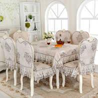 kitchen chair slipcovers beach house backsplash ideas 厨房椅子套diy 厨房椅子套安装 厨房椅子套出租 订做 淘宝海外 棉麻亚麻布料餐座椅套布艺套装欧式厨房专用两色可