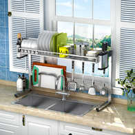 hahn kitchen sinks aid bbq grill 水槽收納架設計 水槽收納架收納 水槽收納架推薦 店 淘寶海外 304不鏽鋼碗架水槽瀝水架廚房置物架用品用具收納架碗碟
