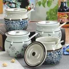 Kitchen Pottery Canisters White Cabinet 土盐罐价格 土盐罐做法 土盐罐推荐 哪里买 淘宝海外 陶罐粗陶猪油罐调味土陶罐盐罐糖罐储