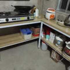 Steel Kitchen Table Overstock Island 厨房钢木餐桌尺寸 厨房钢木餐桌高度 厨房钢木餐桌价格 推荐 淘宝海外 厨房切菜桌实木颗粒钢木餐桌简易长桌子双层多层
