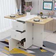 zinc kitchen table cabinets storage 厨房可移动桌设计 厨房可移动桌diy 厨房可移动桌技巧 意思 淘宝海外 简约折叠桌餐桌家用小户型长方形可伸缩移动饭桌多功能厨房桌