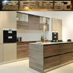 Kitchen Island Tops Wood Counters 厨房中岛柜设计 厨房中岛柜尺寸 厨房中岛柜收纳 颜色 淘宝海外 盛庆顶配橱柜定制厨房石英石台刨花板实木颗粒板1延