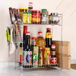 Metal Kitchen Shelves Cooking Oil Container Supplies 金属角架子设计 金属角架子收纳 金属角架子推荐 店 淘宝海外 调料架子省空间两层置物厨房架角架金属厨房调味料调理