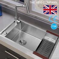 single bowl cast iron kitchen sink faucets best 出口厨房水槽尺寸 出口厨房水槽品牌 出口厨房水槽设计 安装 淘宝海外 出口 1810厨房304不锈钢手工水槽大单槽台上下盆洗