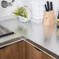 refurbished kitchen table cabinets nashville tn 厨房台面翻新设计 厨房台面翻新布置 厨房台面翻新图片 颜色 淘宝海外 厨房灶台面加厚铝箔防油贴纸耐高温自粘锡纸防水瓷砖