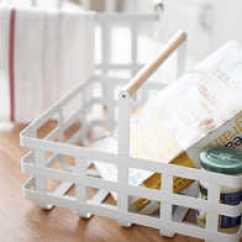 Kitchen Basket Small Design Photos 日本厨房收纳篮子批发 日本厨房收纳篮子教学 日本厨房收纳篮子德国 尺寸 日本北欧简约白色铁艺收纳篮子厨房厨具蔬果置物筐浴室储物野餐
