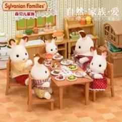 Kitchen Table Chairs Set Home Decor 家具玩具厨房推荐 家具玩具厨房哪里买 家具玩具厨房批发 Diy 淘宝海外 新品森贝儿家族玩具4506客厅桌椅套儿童女孩过家家