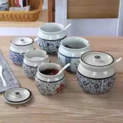Kitchen Pottery Canisters Makeovers Ideas 土盐罐价格 土盐罐做法 土盐罐推荐 哪里买 淘宝海外 陶罐粗陶猪油罐调味土陶罐盐罐糖罐储