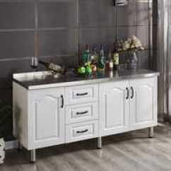 Movable Cabinets Kitchen Island With Dishwasher 可移动厨房橱柜价格 可移动厨房橱柜做法 可移动厨房橱柜推荐 哪里买 可移动的简易厨房橱柜整体灶台柜不锈钢台面洗菜碗柜
