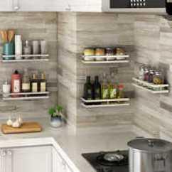 Kitchen Spice Rack Metal Sink Cabinet Unit 厨房调料架挂架设计 厨房调料架挂架收纳 厨房调料架挂架推荐 店 淘宝海外 厨房调料置物架壁挂式免打孔调料架调味品油盐酱