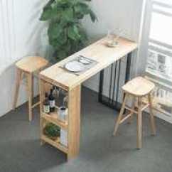 Kitchen Table Legs Travel Trailers With Outdoor Kitchens 厨房长条桌新品 厨房长条桌价格 厨房长条桌包邮 品牌 淘宝海外 北欧实木吧台桌家用长条桌创意靠墙桌厨房吧桌简约