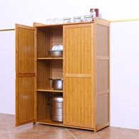 bamboo kitchen cabinets canisters ceramic sets 餐具厨柜设计 餐具厨柜收纳 餐具厨柜推荐 店 淘宝海外 厨房置物架微波炉架子烤箱架厨柜落地餐具收纳架实木楠竹