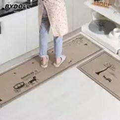 Kitchen Rug Set Counter Top 地毯套装新品 地毯套装价格 地毯套装包邮 品牌 淘宝海外 Bydoll厨房长条地垫入户门垫门厅卧室布艺脚垫防滑