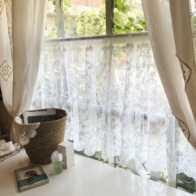french lace kitchen curtains average cost of new cabinets 欧式蕾丝窗帘价格 欧式蕾丝窗帘颜色 欧式蕾丝窗帘设计 尺寸 淘宝海外 进口成品窗帘laceshabby复古法式龙骨蕾丝刺绣欧式浪漫帘头窗幔