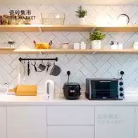 beveled subway tile kitchen large wall clocks 斜面砖新品 斜面砖价格 斜面砖包邮 品牌 淘宝海外 北欧风格小白砖100x300 厨房卫生间瓷砖长条白色平面斜面地铁砖