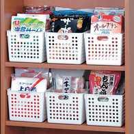 kitchen basket supplies stores 日本厨房收纳篮子批发 日本厨房收纳篮子教学 日本厨房收纳篮子德国 尺寸 日本进口家用厨房篮子橱柜收纳篮桌面整理盒塑料长方形零食收纳筐