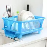 triple sink kitchen stoves 三层碗碟架设计 三层碗碟架收纳 三层碗碟架推荐 店 淘宝海外 加厚空塑料沥水架打孔双层水槽家用三层滴水碗