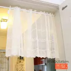 French Lace Kitchen Curtains Cabinet Doors With Glass Fronts 蕾丝窗纱半帘价格 蕾丝窗纱半帘颜色 蕾丝窗纱半帘设计 尺寸 淘宝海外 美式乡村田园蕾丝半帘挂帘咖啡帘成品窗帘窗纱帘头短