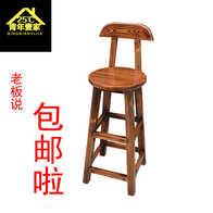 kitchen stool rustic cabinets for sale 厨房凳子家用尺寸 厨房凳子家用高度 厨房凳子家用设计 推荐 淘宝海外 厨房凳子高脚凳实木吧椅靠背椅家用梯凳餐厅奶茶店