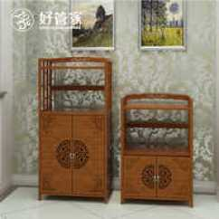 Bamboo Kitchen Cabinets Low Cost 竹厨柜设计 竹厨柜收纳 竹厨柜推荐 店 淘宝海外 家用小厨柜多用餐边储物柜子宜家简易型餐柜厨房