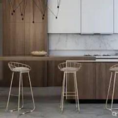 Tall Table And Chairs For Kitchen Remodel Contractor 厨房餐椅推荐 厨房餐椅制作 厨房餐椅工厂 香港 淘宝海外 化妆椅吧台椅网格椅金色高脚凳现代餐椅休闲椅